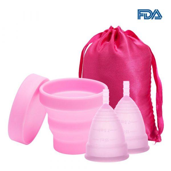 2 Coupes menstruelles en Silicone médical + stérilisateur