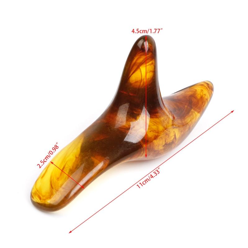 Résine ambre cire Triangle pied pieds masseur Gua Sha Acupuncture Shiatsu outil